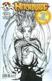 Witchblade #116 2nd Second Print Sketch Variant (2008) Top Cow comic book